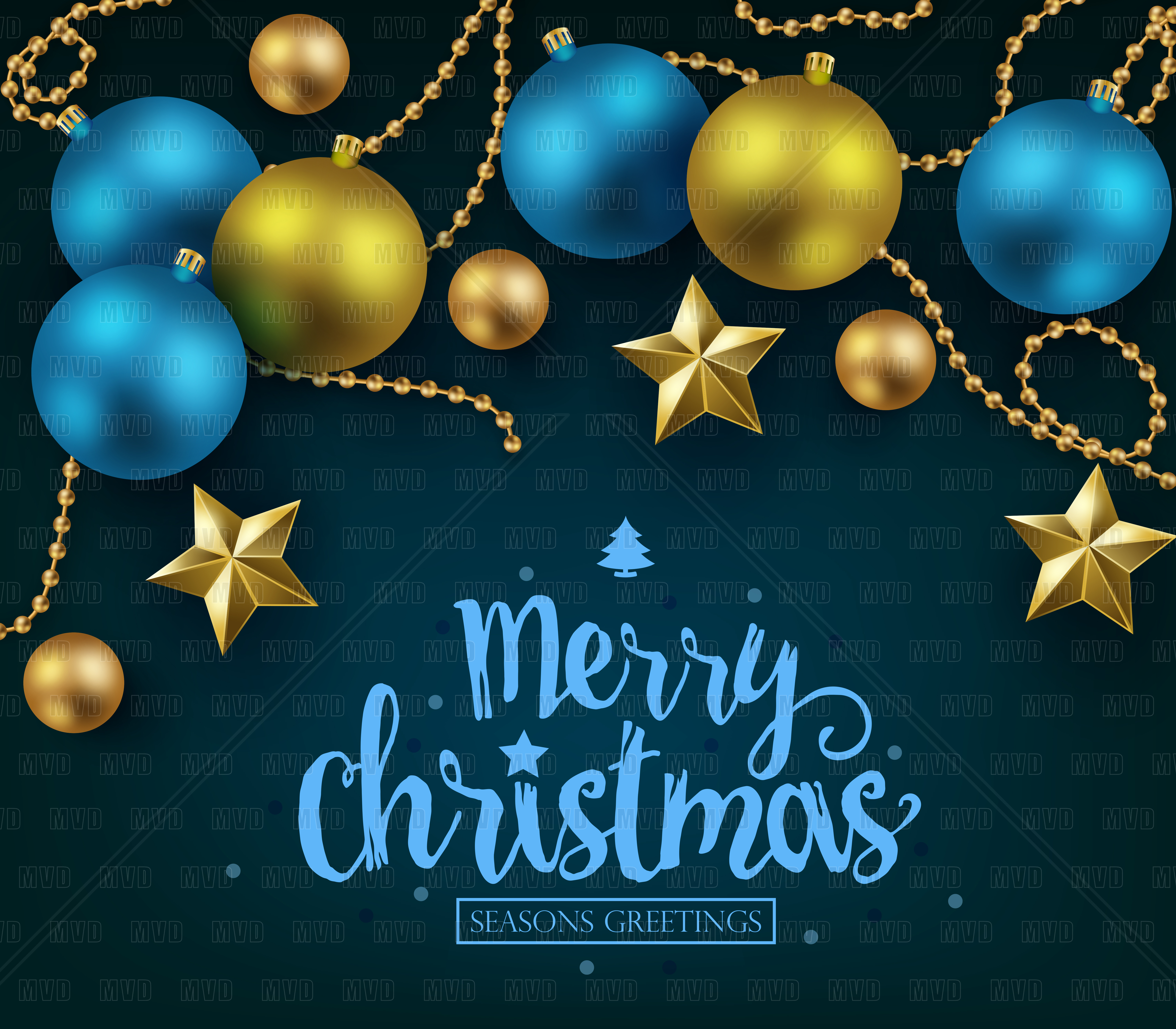 Merry christmas and happy new year typo design bundles merry christmas and happy new year typography on blue background example image 1 kristyandbryce Choice Image