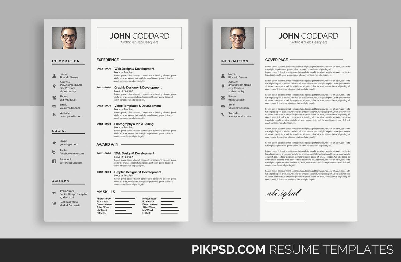Clean Resume/CV by Business Templates | Design Bundles