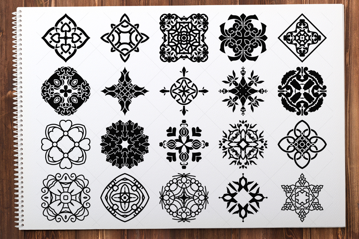 500 Vector Mandala Ornaments example image 23