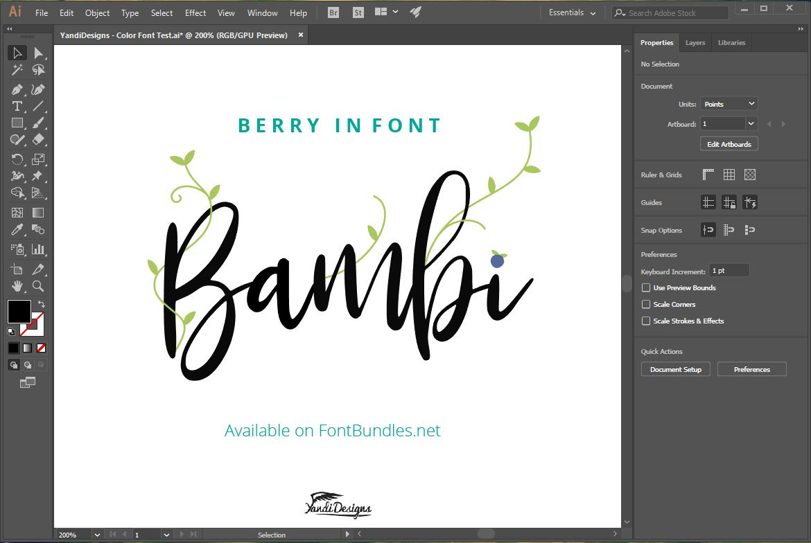 Bambi Font + New Extras ! example image 4