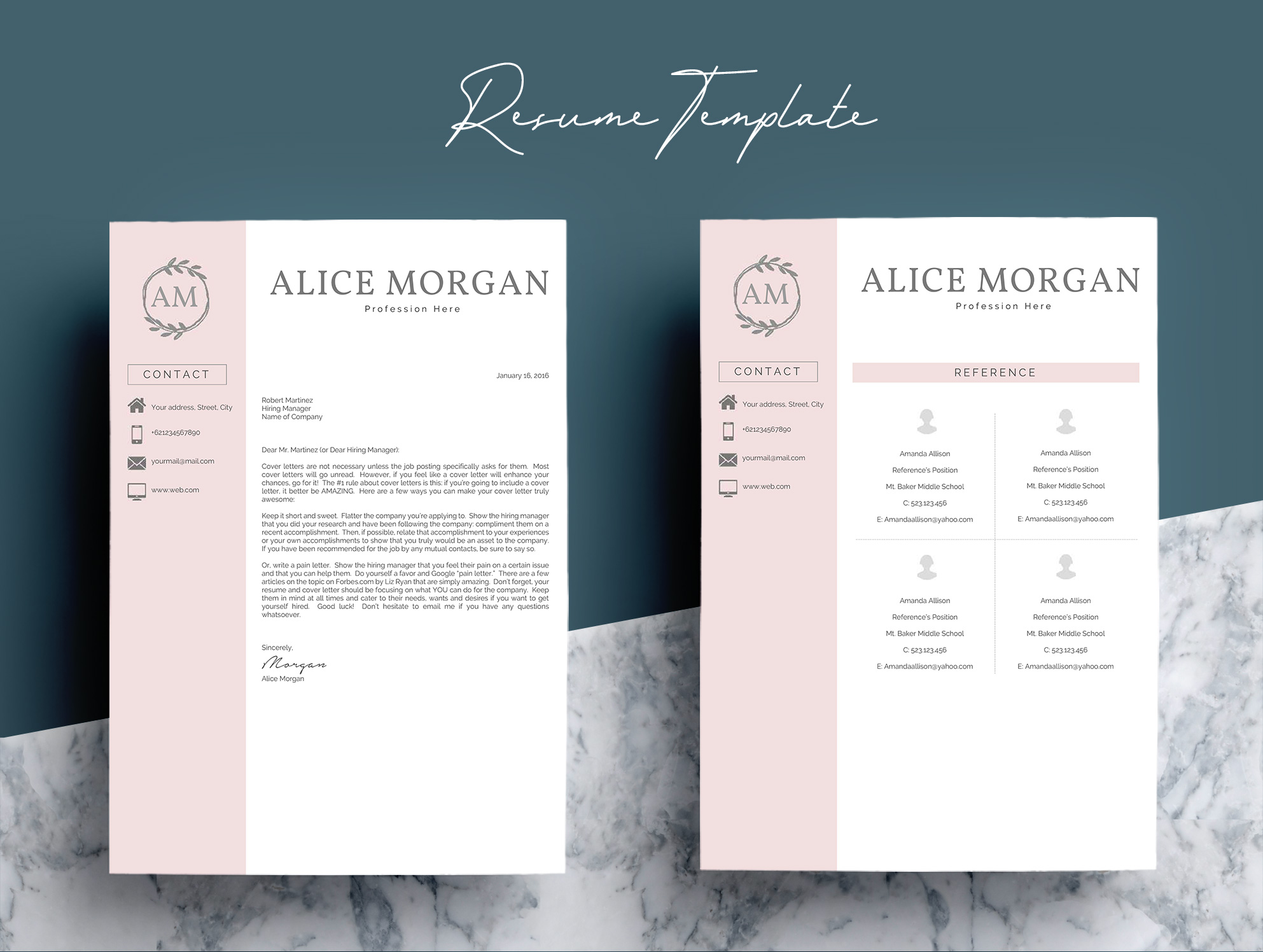 Professional Creative Resume Template   Design Bundles