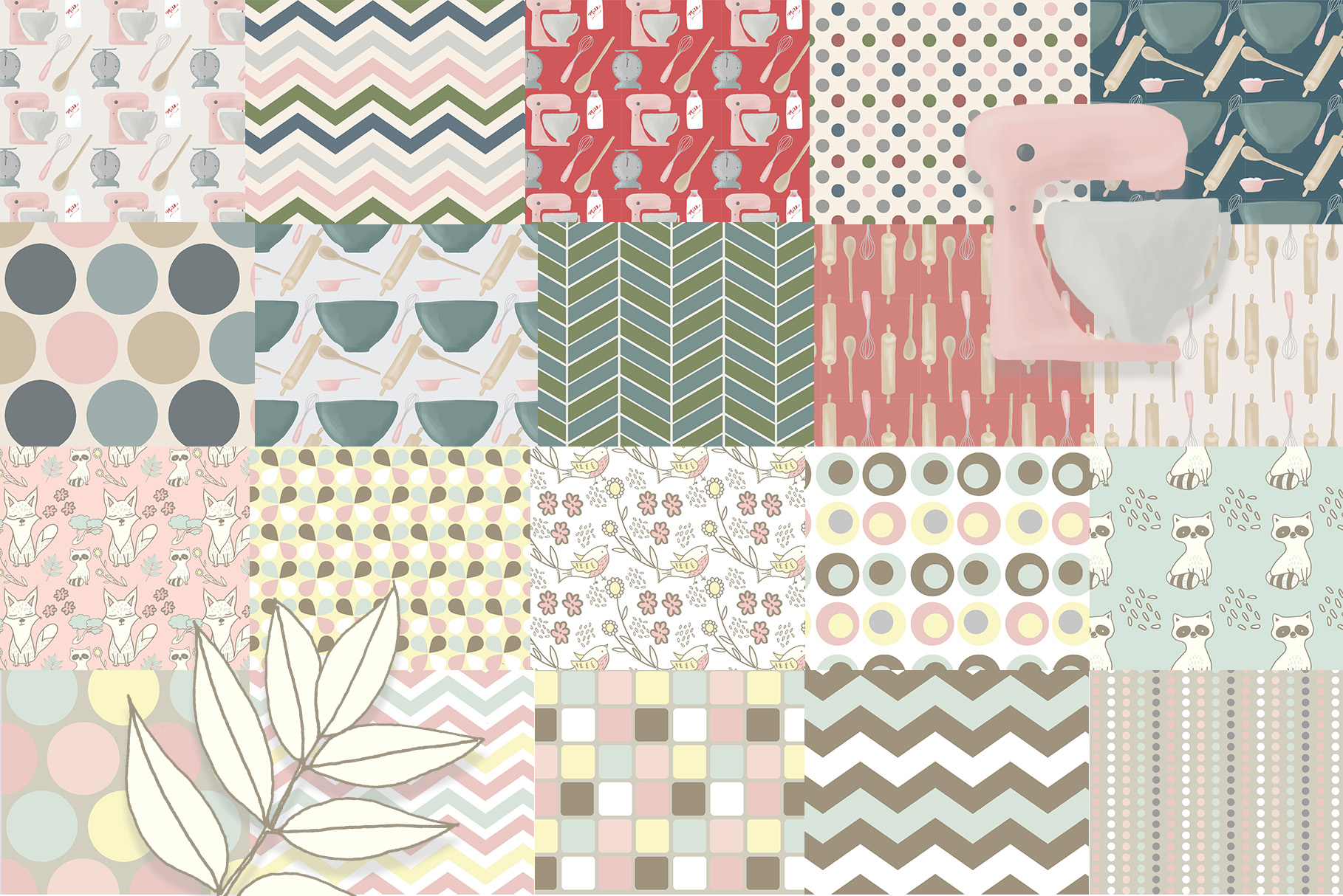 Patterns Bundle, Digital Patterns, Seamless Patterns, Digital Wallpaper Example Image