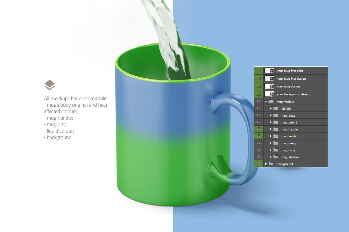 Magic Mug Animated Mock up (Color Changing Morphing Magical Mug Mockup) example image 5