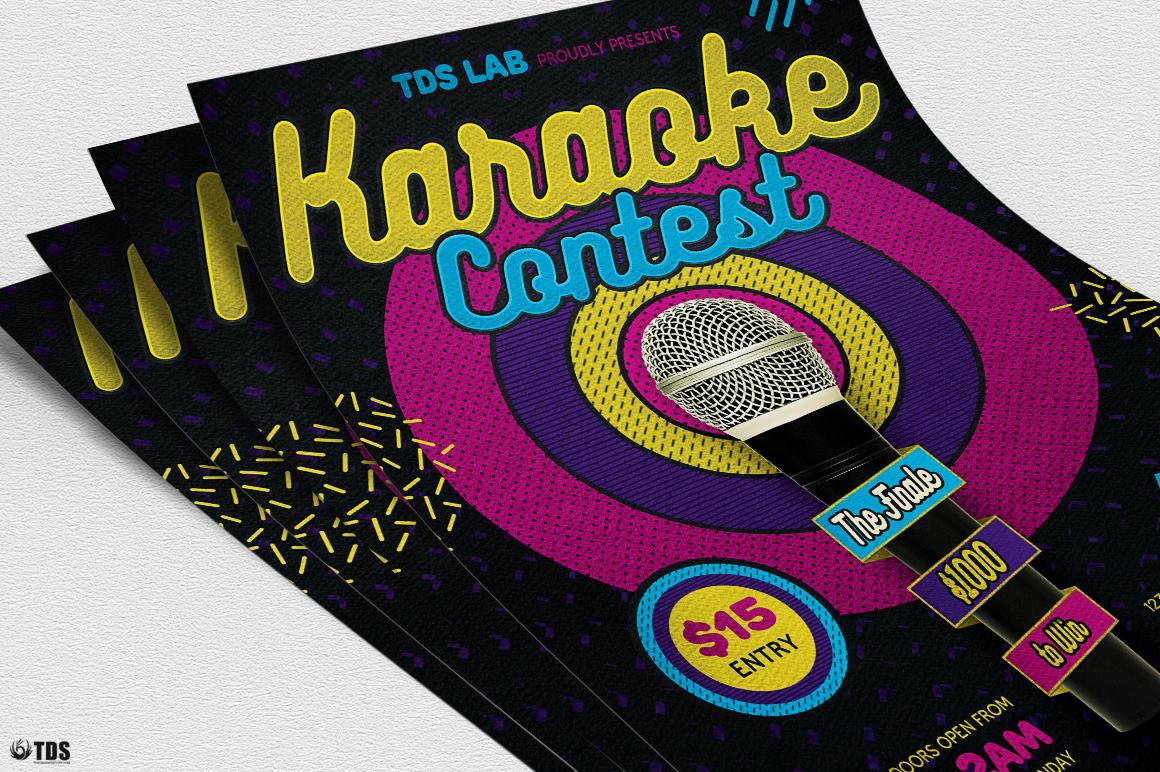 Karaoke Flyer Template V6 example image 5