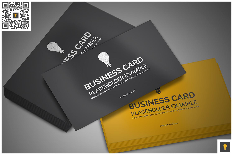 Business card mockup by shocky design design bundles business card mockup example image 2 reheart Images