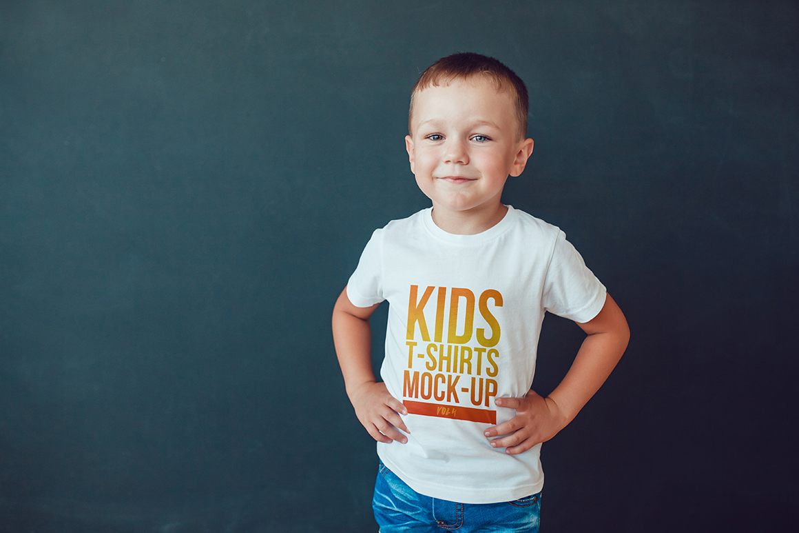 Kids T-Shirt Mock-Up Vol. 4 example image 3
