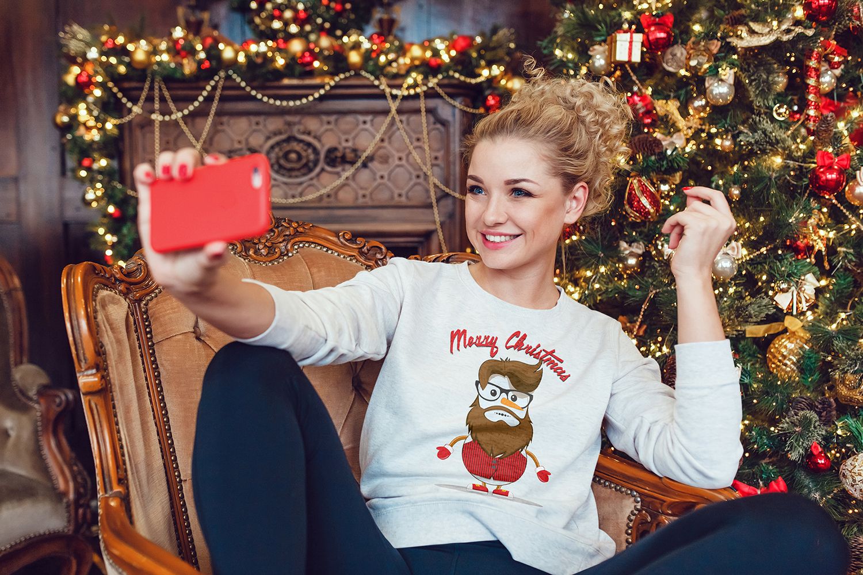 Christmas Sweatshirt Mock-Up example image 6