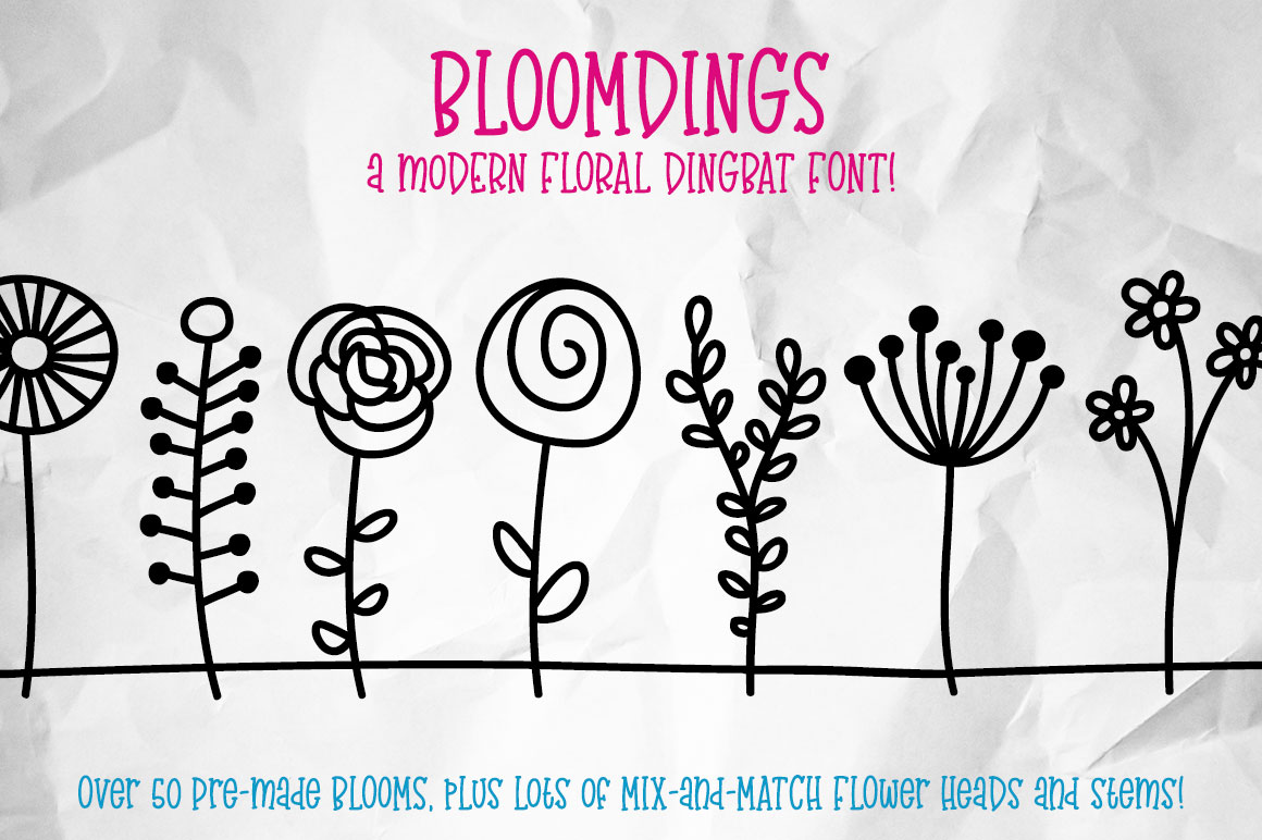 Bloomdings: abstract floral dingbats! example image 1