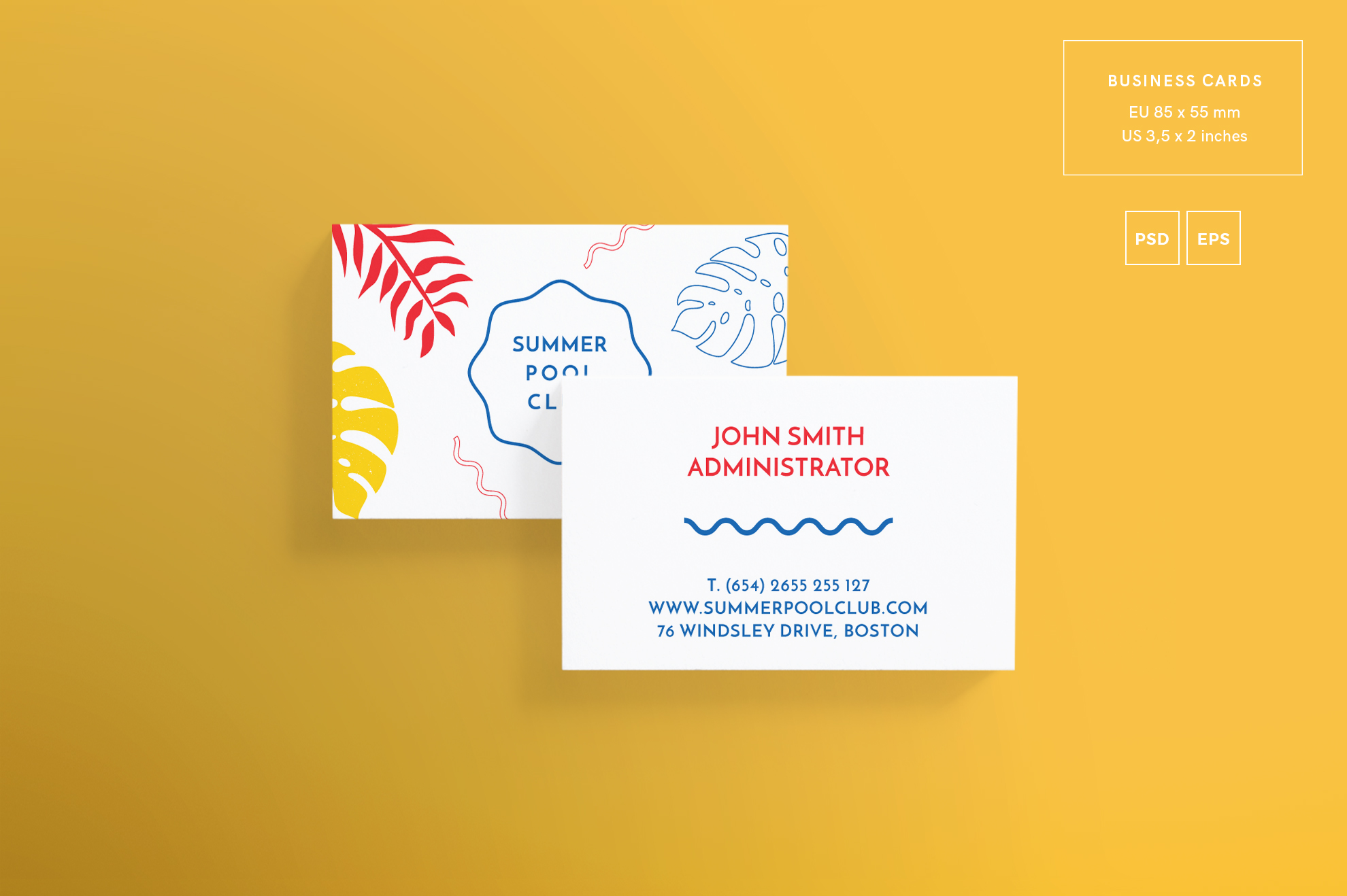 Summer pool club business card design t design bundles summer pool club business card design templates kit example image 2 reheart Choice Image