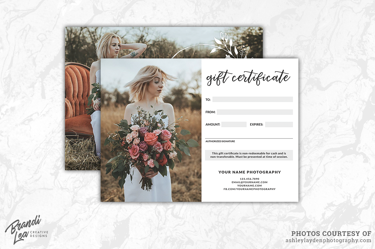 Photography gift certificate template b design bundles photography gift certificate template example image 2 yadclub Choice Image