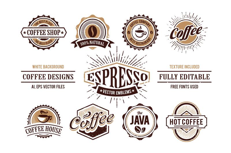 Retro Coffee Emblems #1 example image 3