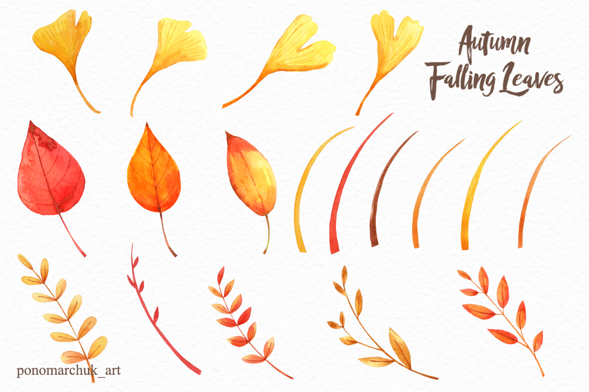 Autumn falling leaves example image 5