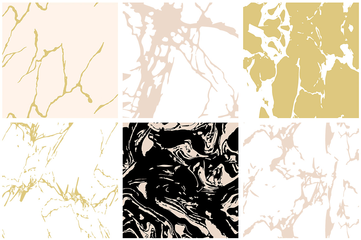 Marble Seamless Vector Patterns example image 2