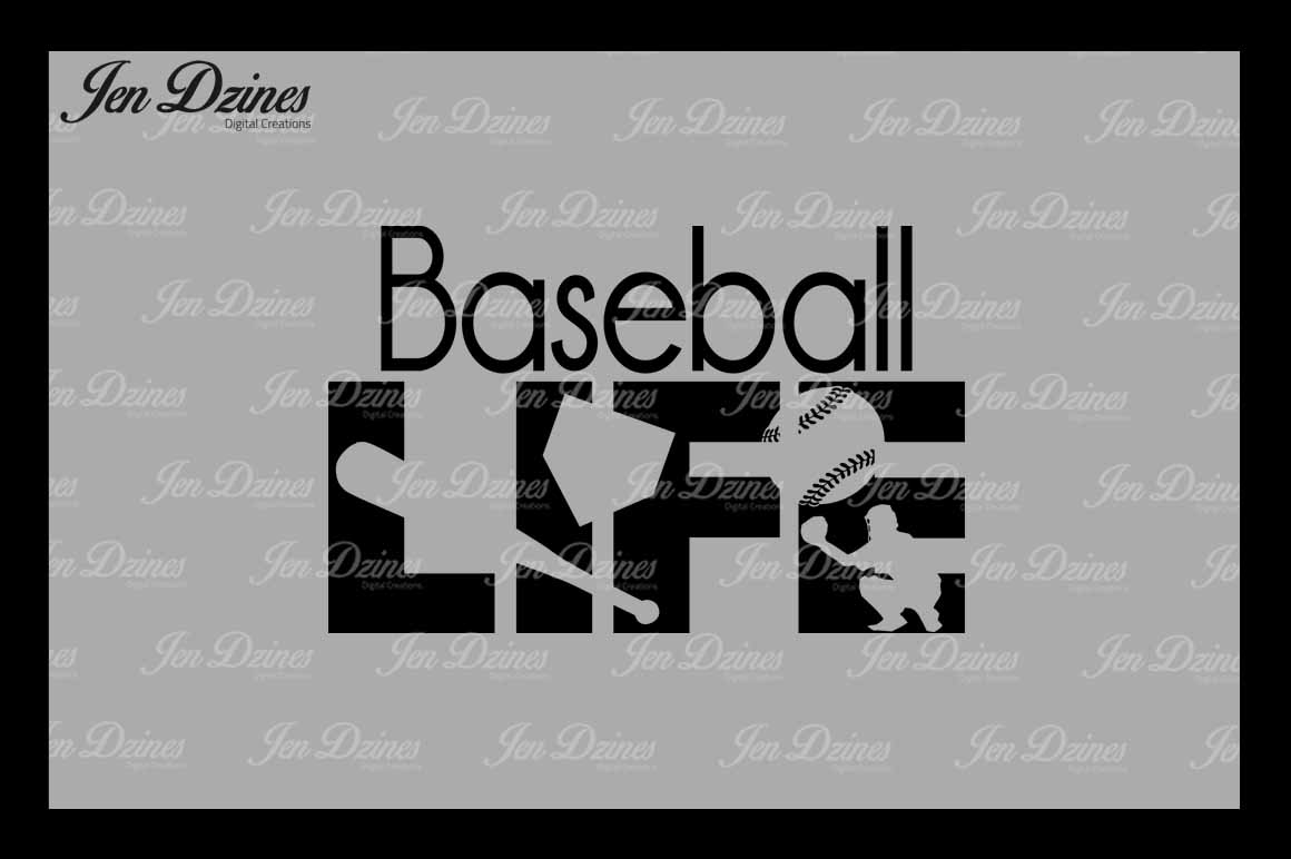 Baseball Bundle SCG DXF EPS PNG example image 2