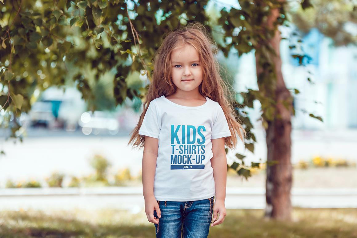 Kids T-Shirt Mock-Up Vol 3 example image 10