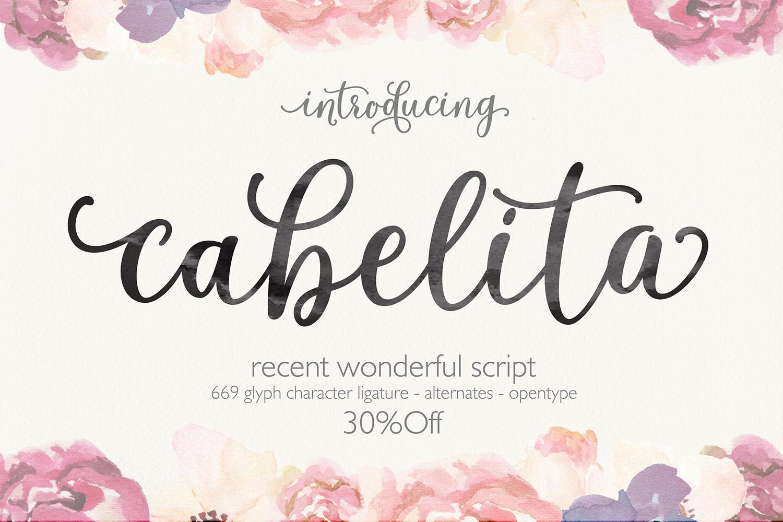Cabelita Script example image 1
