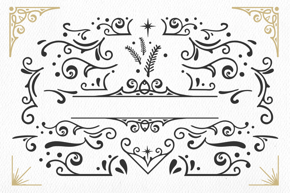 Vondey - Holiday font & ornaments example image 9