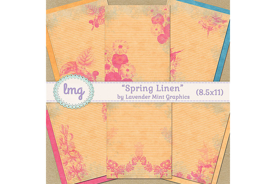 Spring Linen Journal Papers example image 1