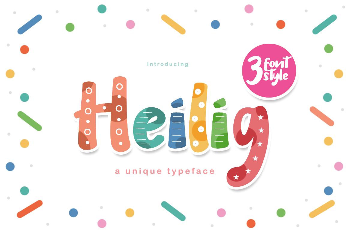 Heilig Display 3 Font example 1