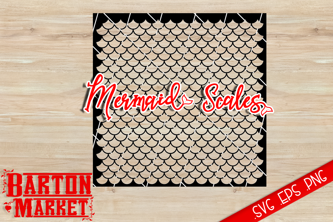 Mermaid Scales SVG / EPS / PNG example image 1