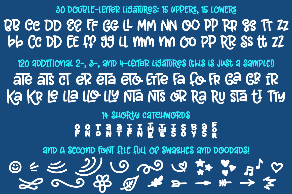 Garlic Butter: a tasty fun font! example image 3