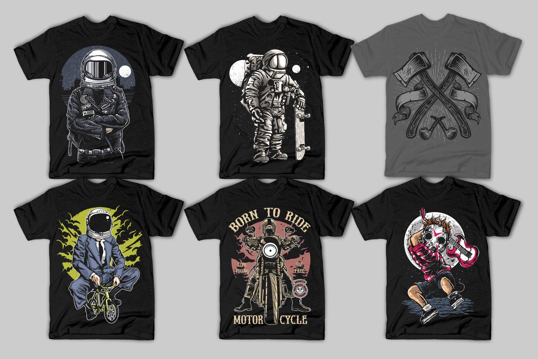 42 Tshirt Designs Bundle example image 2