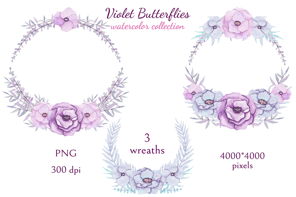 Violet Butterflies example image 8