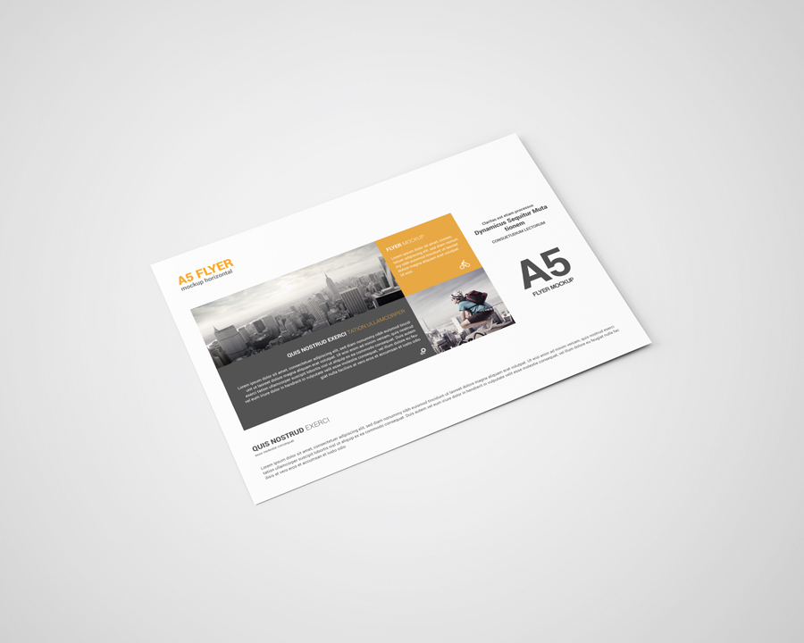 A5 Landscape Flyer Mockup By Toasin Stu Design Bundles