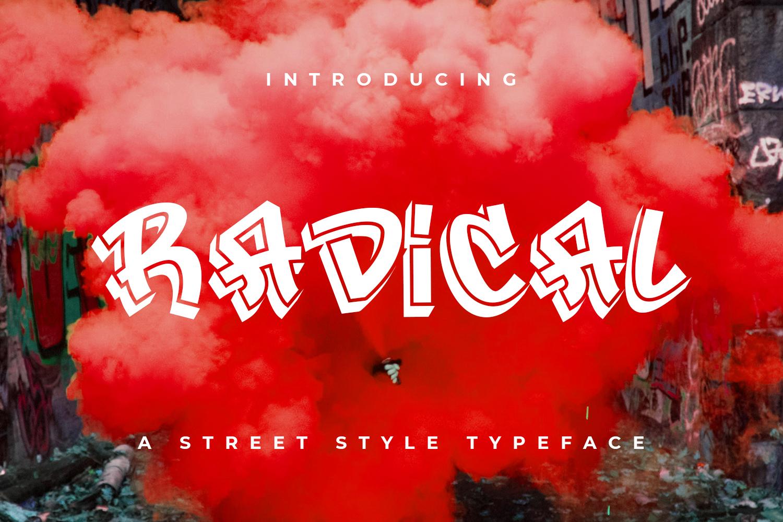 Radical street style graffiti font free