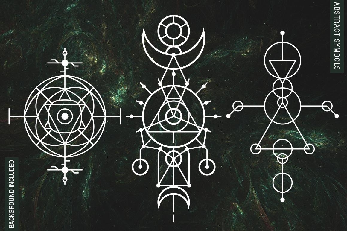 100 Sacred Geometry Symbols  example image 6