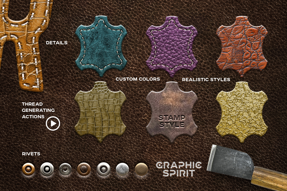 Leather Layer Styles For Photoshop example image 2
