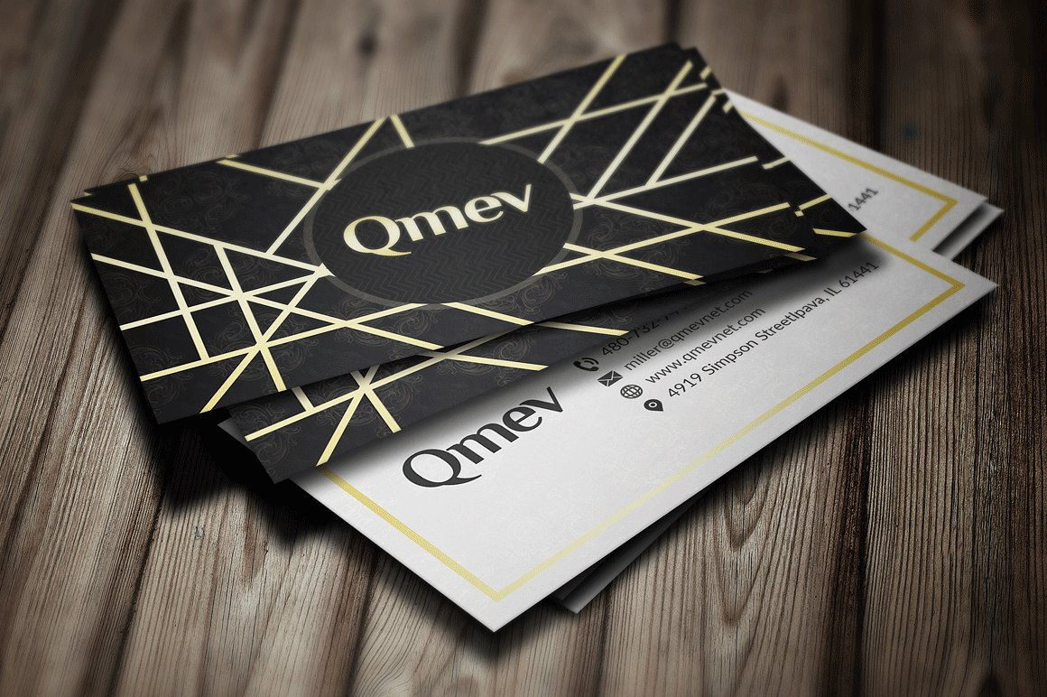 Gold and Black Business Card 2 example image 2