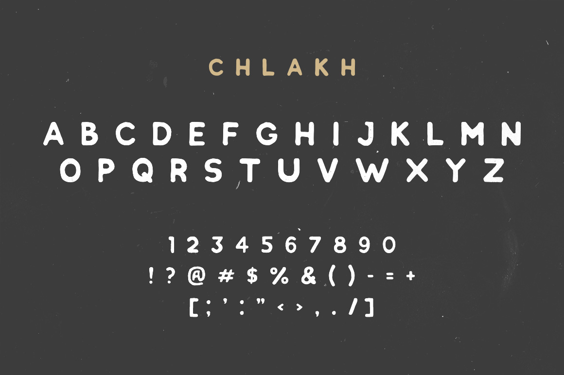 Chlakh - Hand Drawn Typeface example 6