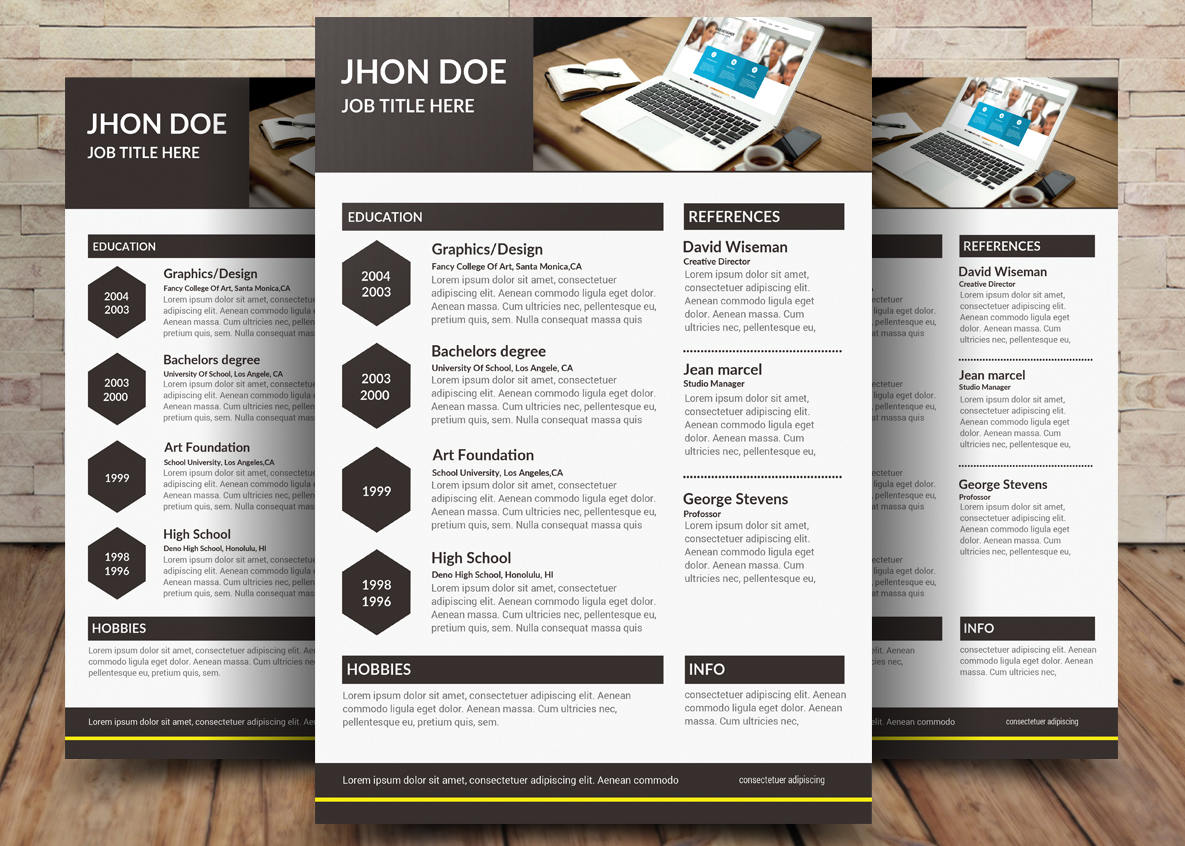 Resume CV example image 1