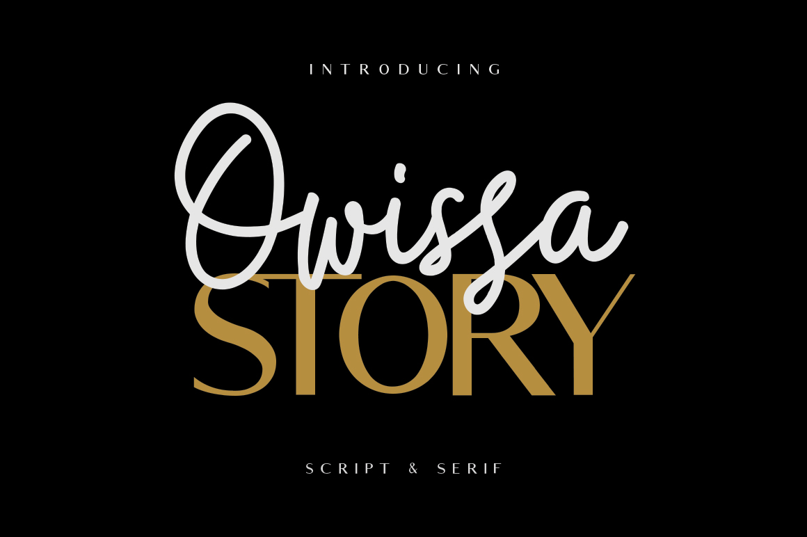 Owissa Story - Font Duo example image 2