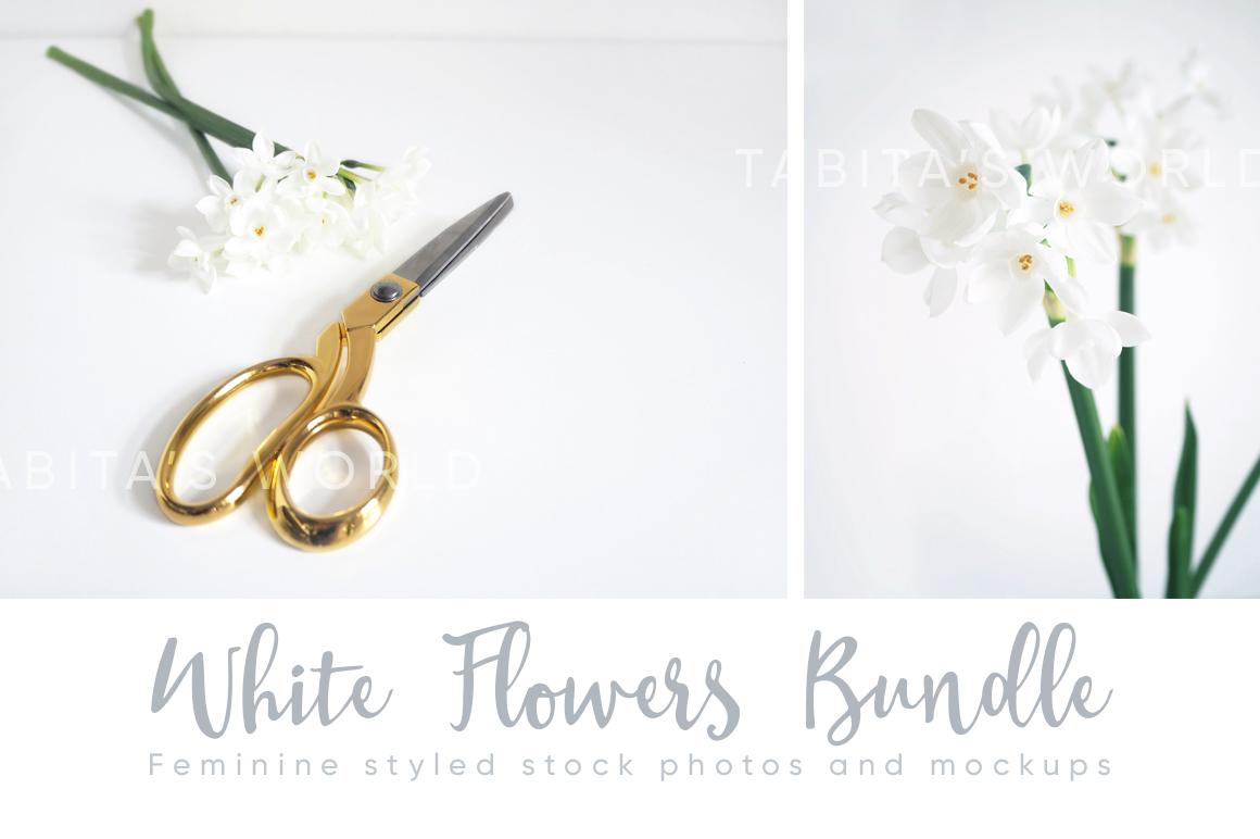 The White Flowers mock ups & photos bundle example image 7