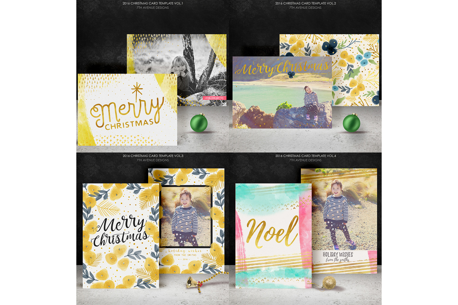 Christmas Cards Templates Collection example image 6