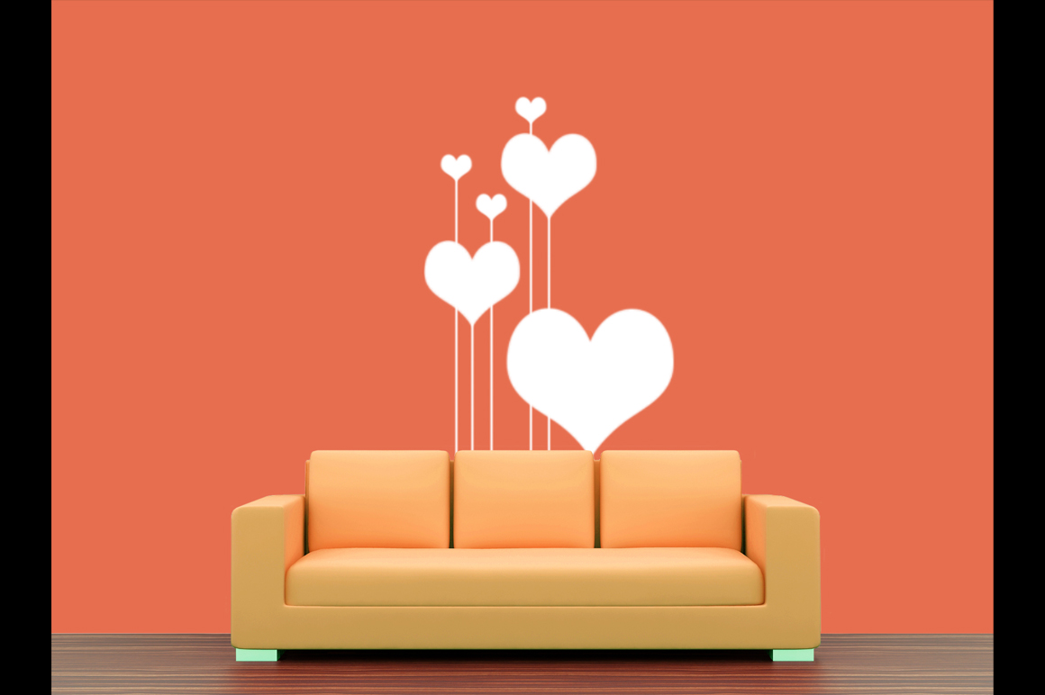 Wall art / decals / poster Mockup v1 example image 4