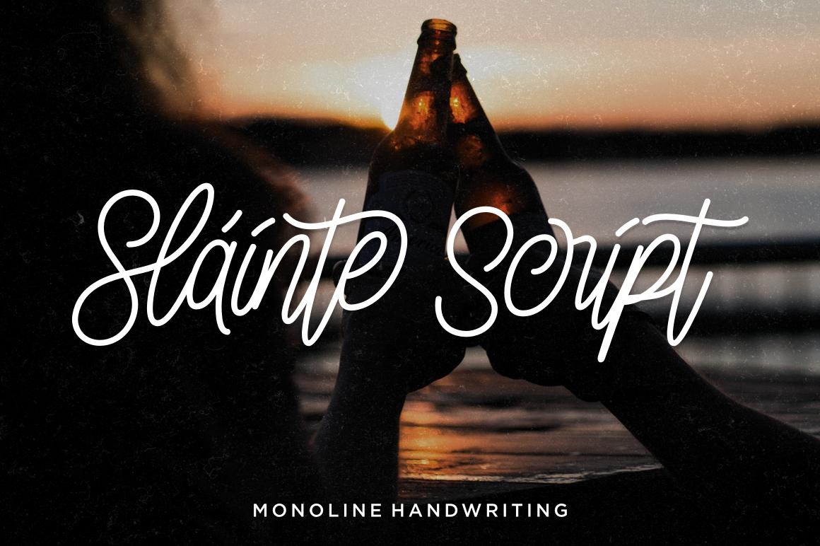 3 in 1 Monoline Script Font example image 10