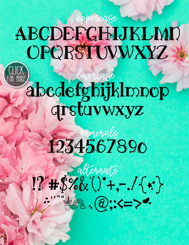 Unicorn Wishes a Handwritten Typeface example image 2