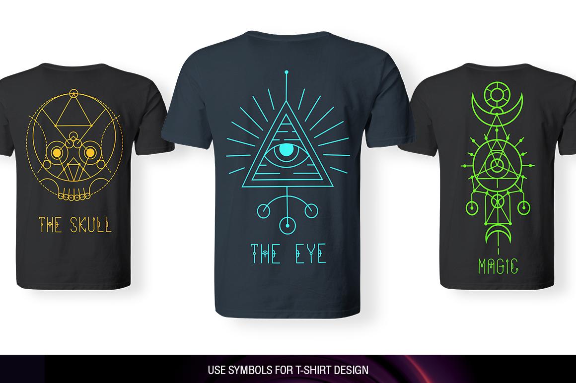 100 Sacred Geometry Symbols  example image 26