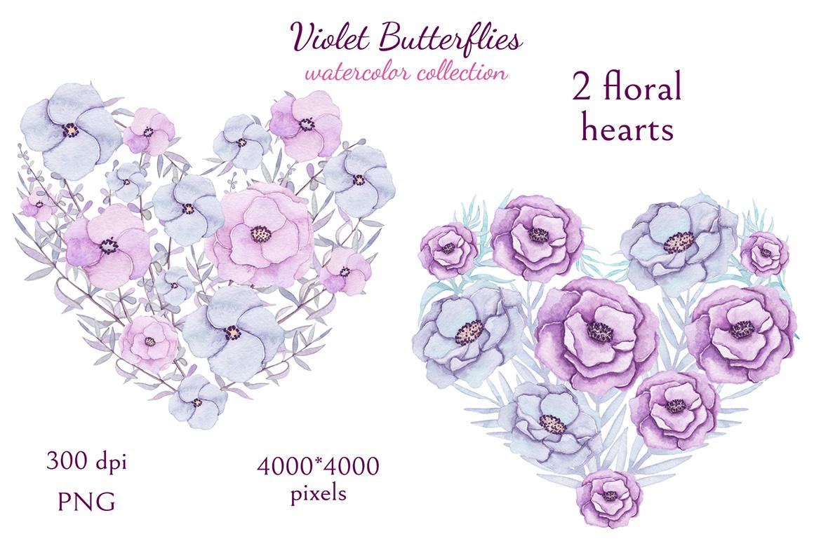 Violet Butterflies example image 7