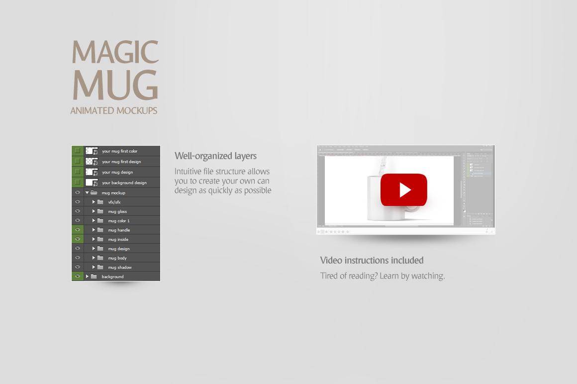 Magic Mug Animated Mock up (Color Changing Morphing Magical Mug Mockup) example image 6