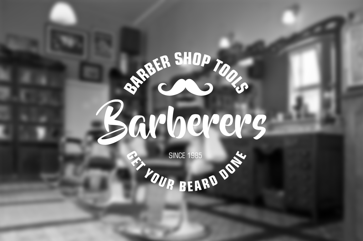 Barbrer Shop Logo Design example image 1