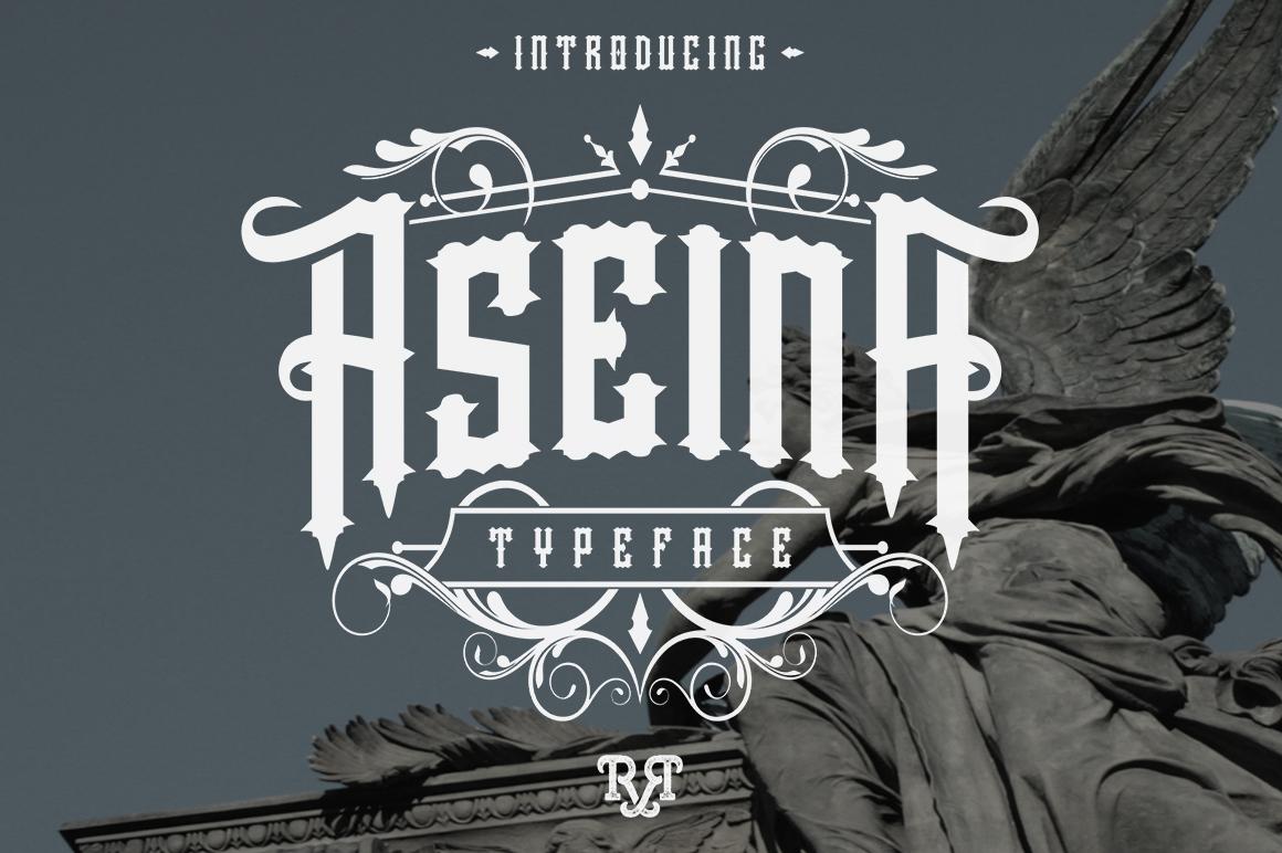 Aseina typeface example image 1