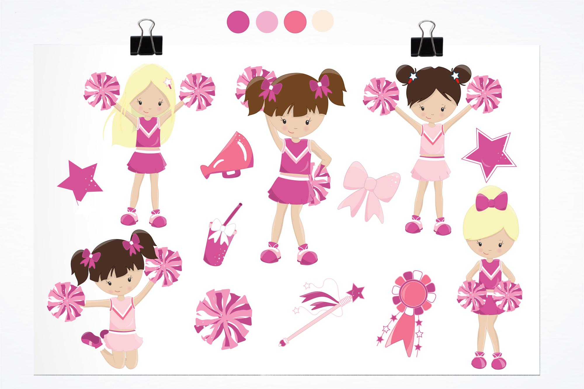 Cheerleaders graphics and illustrations example image 2