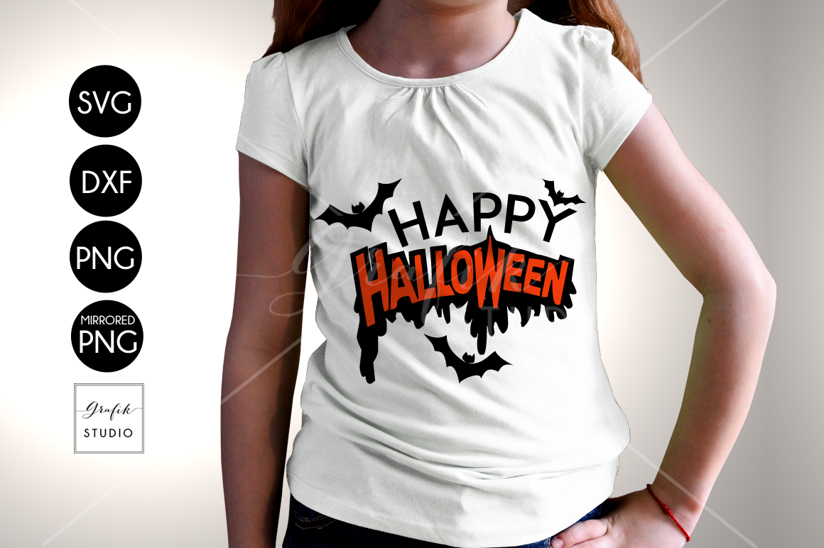 Happy Halloween SVG Cut File, Halloween Cut Files example image 1