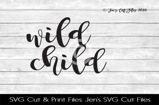 Wild Child SVG Cut File example image 1
