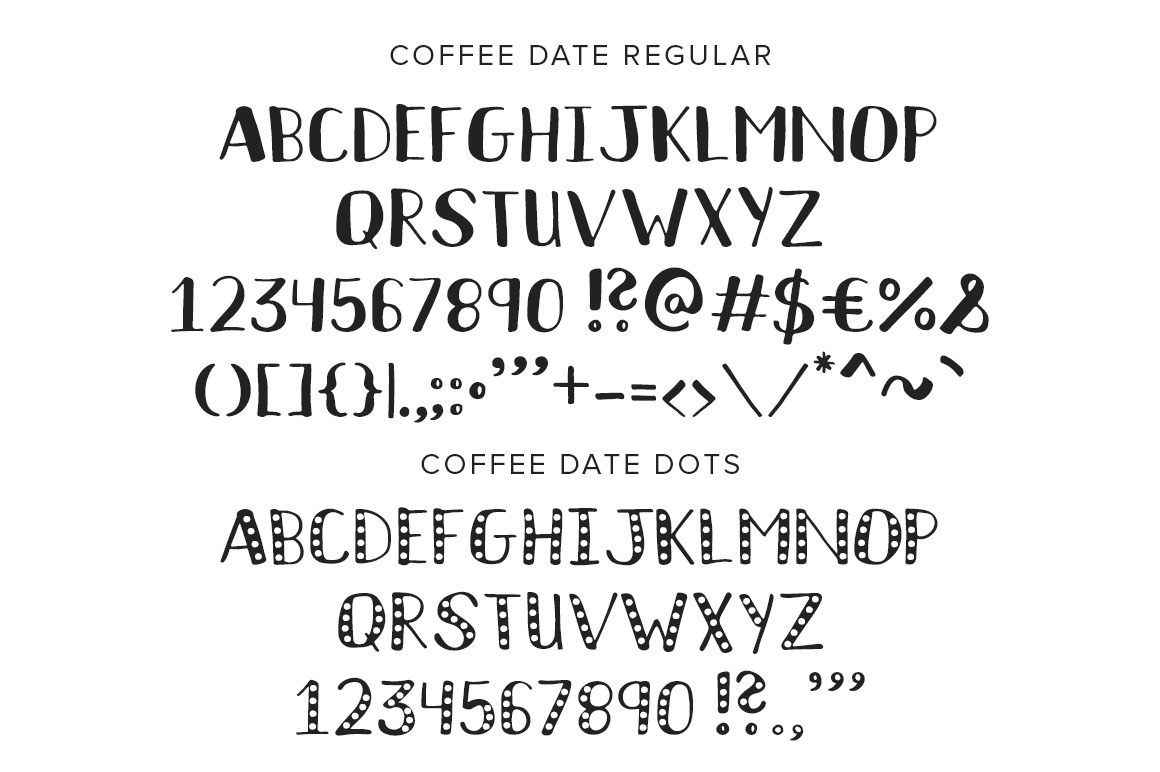 Coffee Date Font example image 3