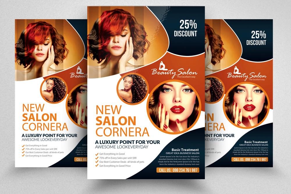 Beauty Salon Flyer Template Example Image 1